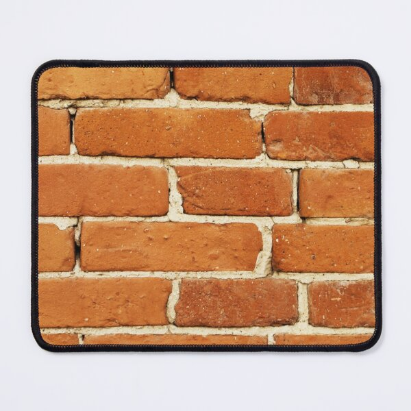 Red Brick Surface with Scratches Mouse Pad