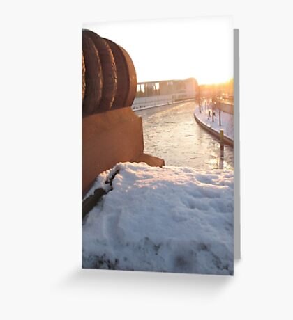 Looking over the River Slee Greeting Card