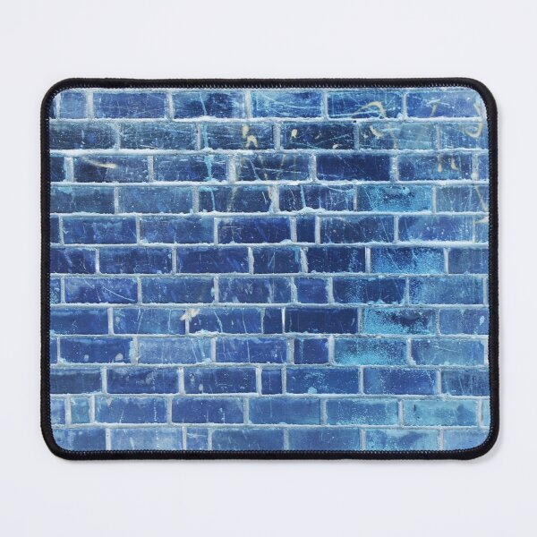 Water Blue Brick Wall Surface Mouse Pad