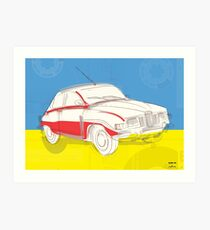 Saab 96 - Vintage Posters Art Print