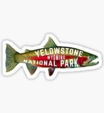 YELLOWSTONE NATIONAL PARK WYOMING FISHING VINTAGE RAINBOW STEELHEAD Sticker