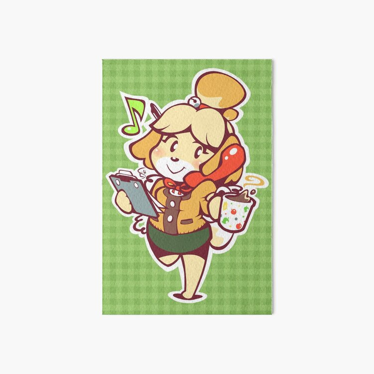 Isabelle - Ready for Work! Art Board Print