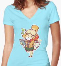 Isabelle - Ready for Work! Women's Fitted V-Neck T-Shirt