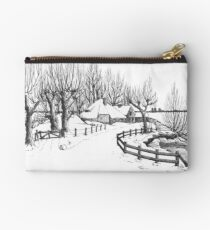 Winter in Holland - Pen Drawing Studio Pouch
