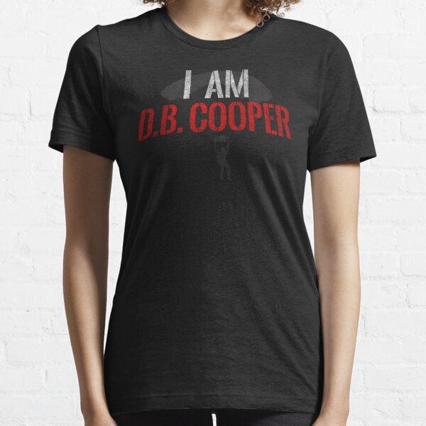 I Am DB Cooper - Black Dirty Essential T-Shirt