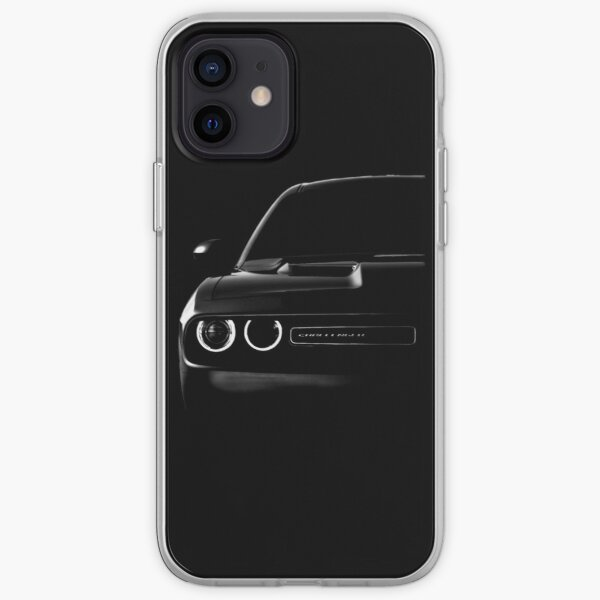 dodge challenger 2015, black shirt iPhone Soft Case