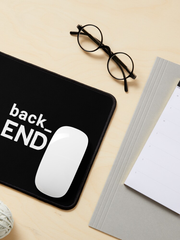 Alternate view of Back End Developer Mouse Pad