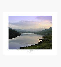 Snowdon Reflection Photographic Print
