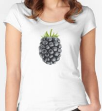 One beautiful blackberry Women's Fitted Scoop T-Shirt