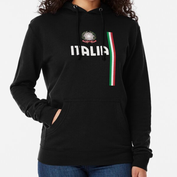 Italy White Letters Italian Country National Pride Born From Hoodie Sweatshirt