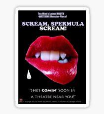 SCREAM, SPERMULA, SCREAM!- Sneak Peak Movie Poster Art Sticker