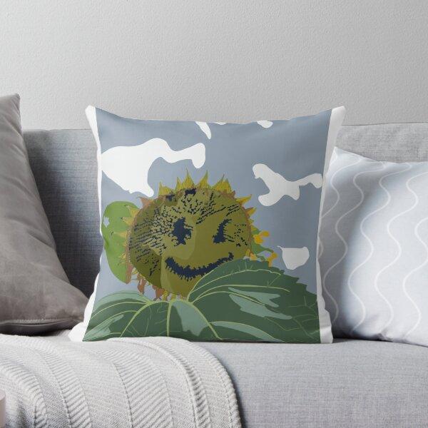 Happy Sunflower  Throw Pillow