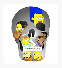 Simpsons X Skull  Photographic Print