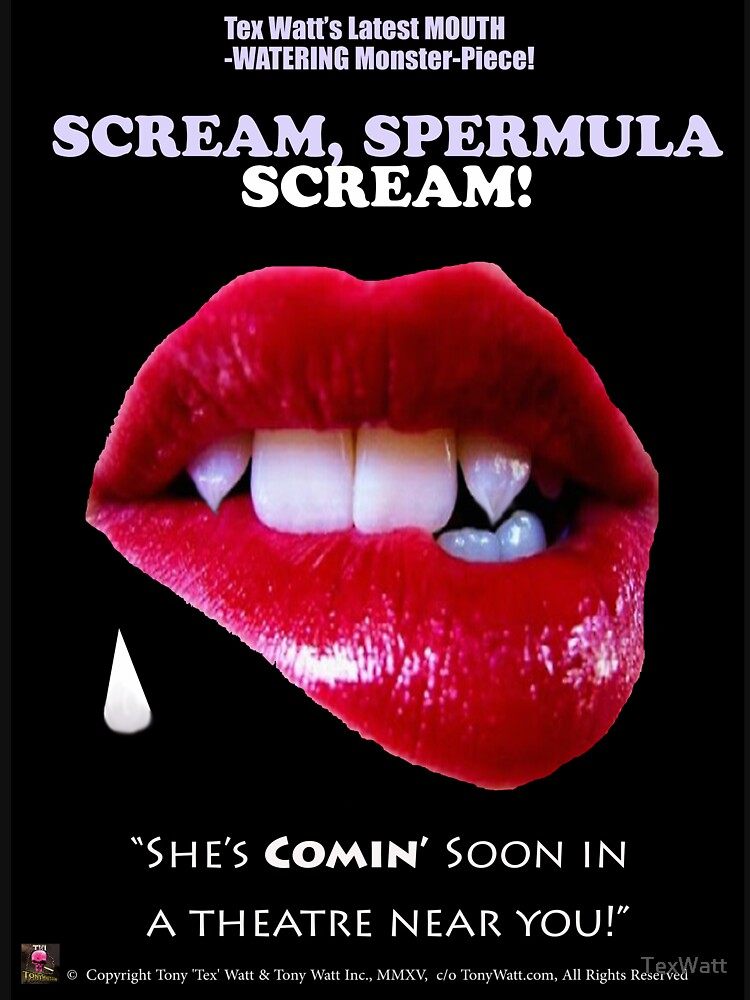 SCREAM, SPERMULA, SCREAM!- Sneak Peak Movie Poster Art by TexWatt
