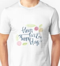 Flower leis and sunny days Unisex T-Shirt