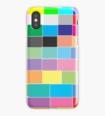 Game of colour blocks  iPhone Case