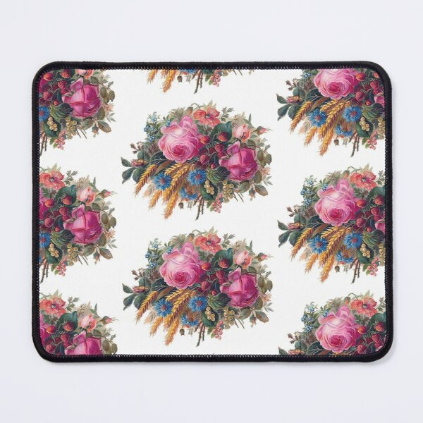 Flowers and spikes Mouse Pad