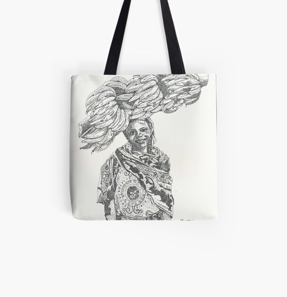 Harvest of plantains All Over Print Tote Bag