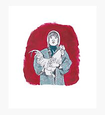 Woman with the Chicken Photographic Print