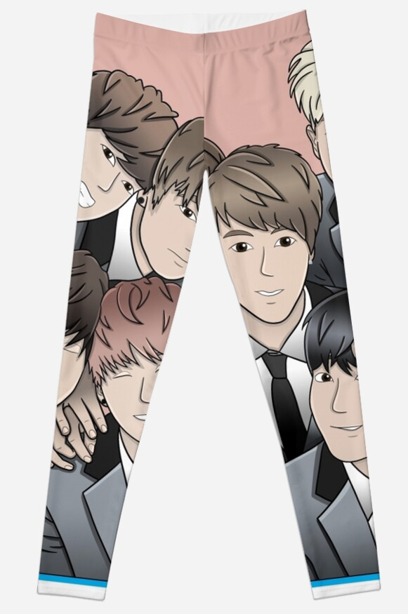 BTS Anime Leggings Von Claralil