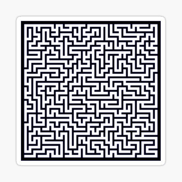 Maze 30x30 Black Sticker