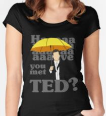 HAAAAVE you met Ted? Women's Fitted Scoop T-Shirt