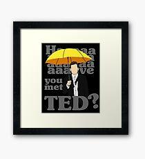 HAAAAVE you met Ted? Framed Print