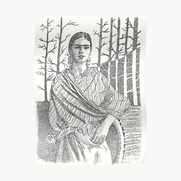 Frida Khalo and trees Poster