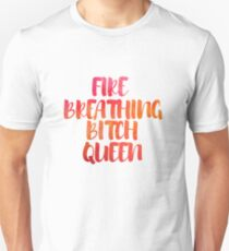 Fire Breathing Queen Unisex T-Shirt
