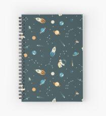 Lil Astronaut Pattern Spiral Notebook