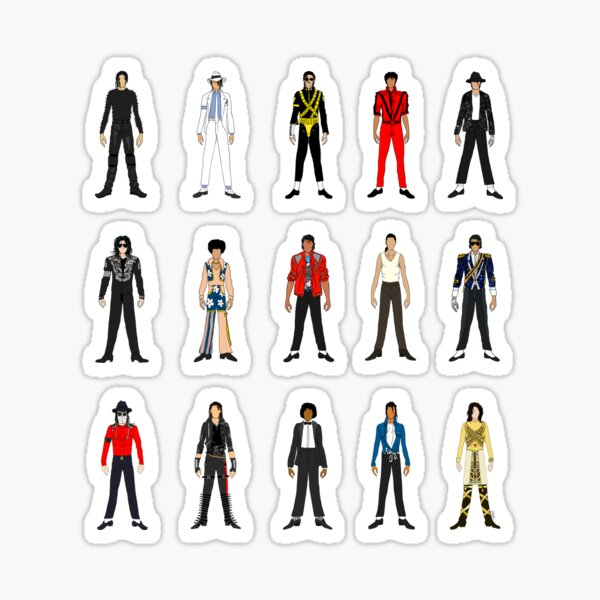 Outfits of King Jackson Pop Music Fashion Sticker