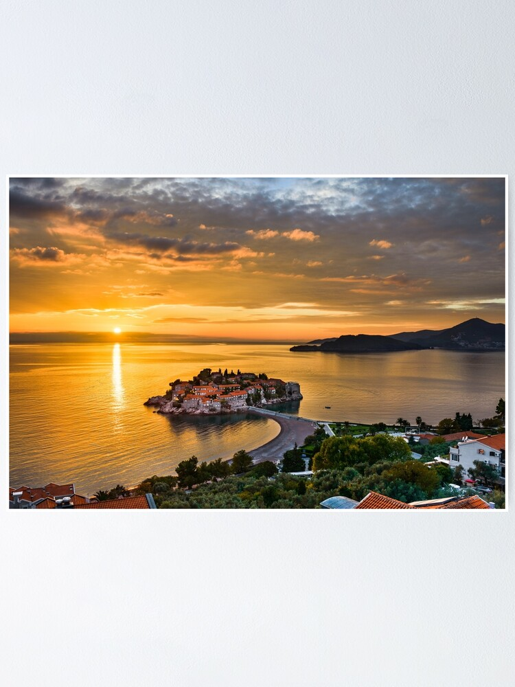 Adriatic Sunset Poster By Mapics Redbubble