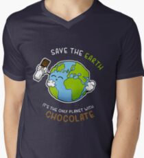 Save Chocolate Men's V-Neck T-Shirt