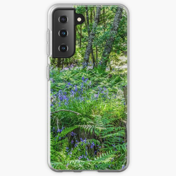 Bluebells in the Taychreggan Forest, Scotland Samsung Galaxy Soft Case