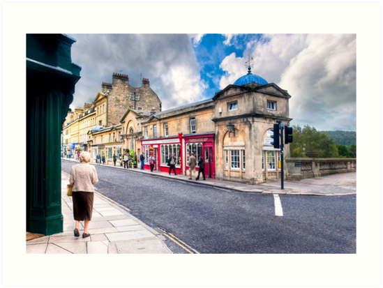 Shopping on Pulteney Bridge - Bath, England by Mark Tisdale