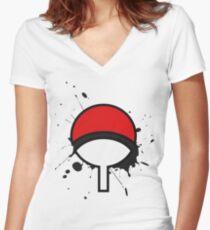 Uchiha Women's Fitted V-Neck T-Shirt