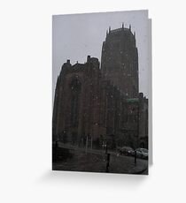 Snowy Cathedral Greeting Card