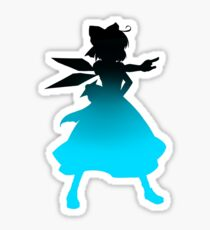 cirno silhouette, variation 1 Sticker