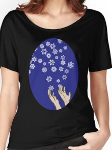 First Snow Night Snowflakes Women's Relaxed Fit T-Shirt