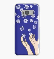 First Snow Night Snowflakes Samsung Galaxy Case/Skin