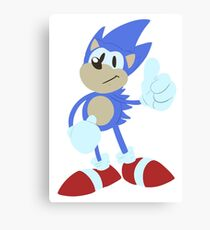 Sonic the hedgehog - Lineless Canvas Print