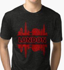 London City UK (Black Red) Tri-blend T-Shirt