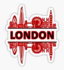 London City UK (Black Red) Sticker