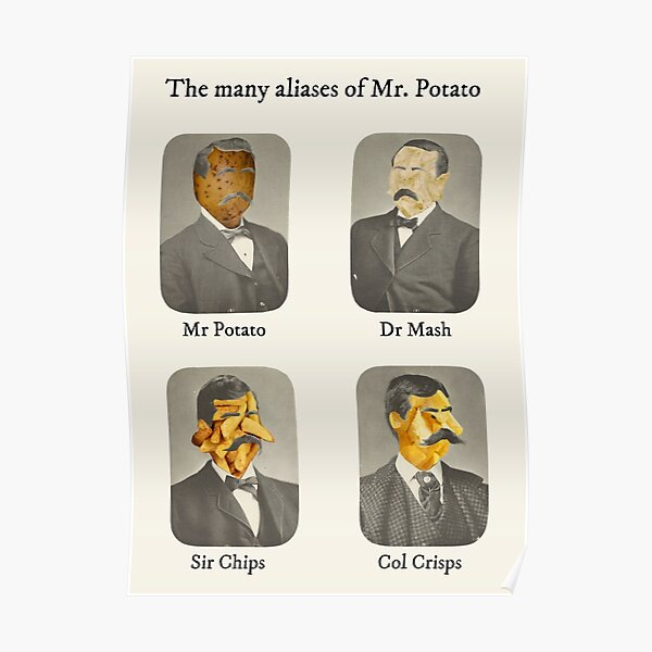 The many aliases of Mr. Potato Poster
