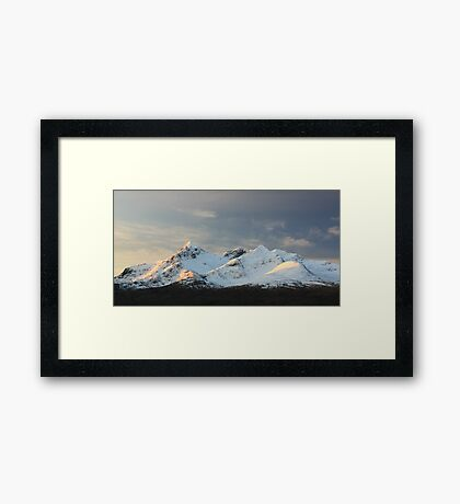 Snow covered Cuillin Framed Print