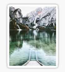 braies lake Sticker