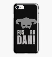 Skyrim- Fus-Ro-Dah!  iPhone Case/Skin