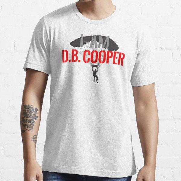 I Am DB Cooper - White Clean Essential T-Shirt