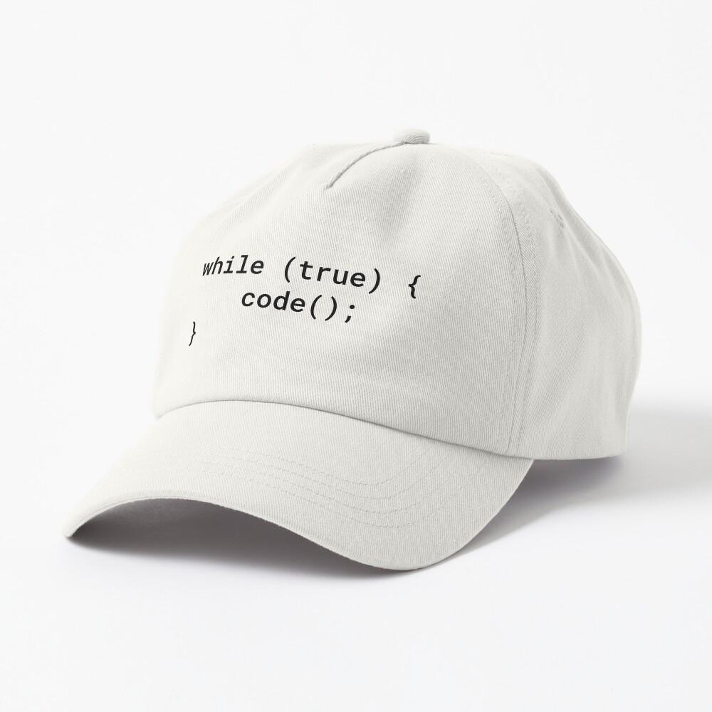 JavaScript - While True Code (Inverted) Cap