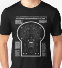 U.S.S Enterprise NCC-1071-D Weapons and Defensive Systems Unisex T-Shirt